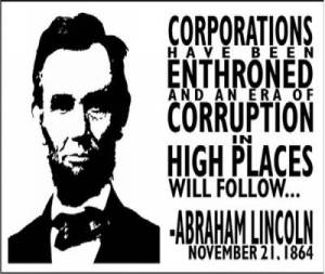 lincolnquoteaboutcorporations1864
