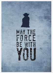 may the force be with you print